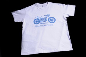 White Cafe Racer T Shirt