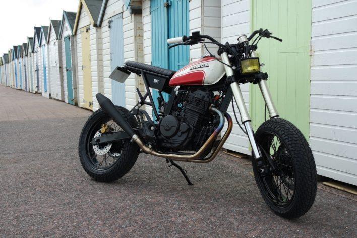Honda FMX650 Custom Tracker Blitz Motorcycle Style by Kevils